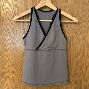LULULEMON grey/black tank Sz 10